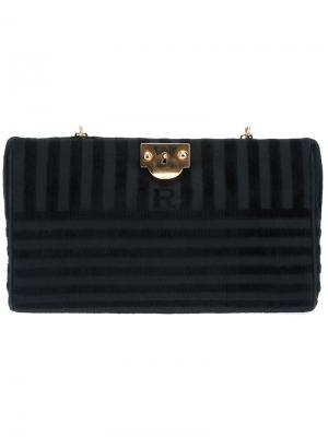 Полосатая сумка на плечо Roberta  Di Camerino Vintage. Цвет: чёрный