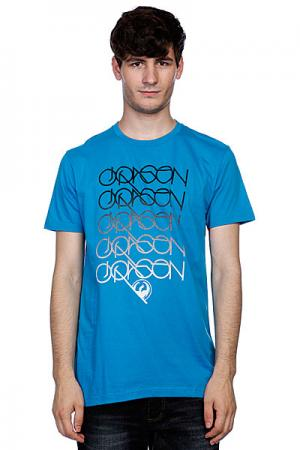 Футболка  Logans Run Sf Tee F10 Turquoise Dragon. Цвет: синий