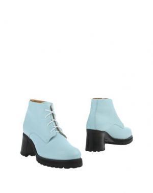 Полусапоги и высокие ботинки L'F SHOES. Цвет: небесно-голубой