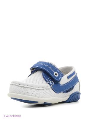 Туфли El Tempo. Цвет: белый, синий