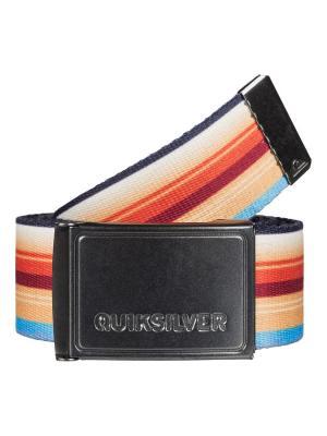 Ремень Quiksilver. Цвет: оранжевый