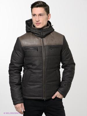Куртка ABSOLUTEX. Цвет: серо-коричневый