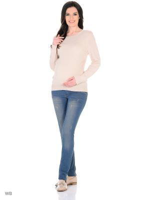 Брюки джинсовые для беременных EUROMAMA. Цвет: синий