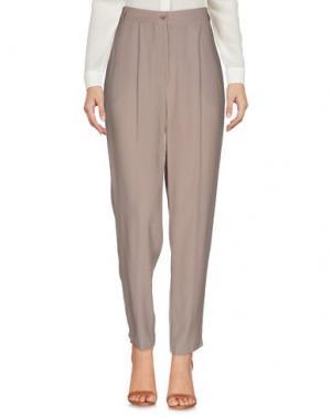 Повседневные брюки DEVOTION. Цвет: песочный