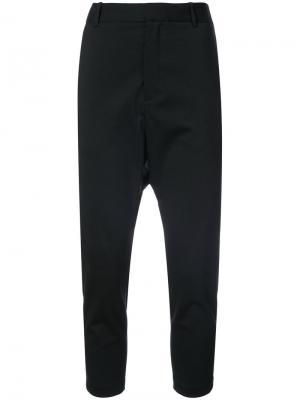 Укороченные брюки с заниженной проймой Nili Lotan. Цвет: синий