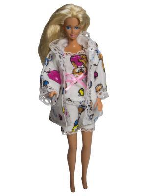 Одежда для сна куклы 29 см: халат, кофточка и шортики Модница.. Цвет: бежевый