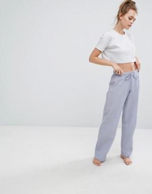Lazy Days Пижамные штаны. Цвет: синий