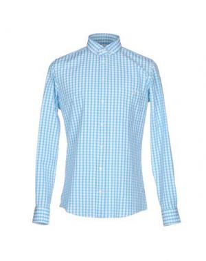 Pубашка RICHARD JAMES. Цвет: бирюзовый