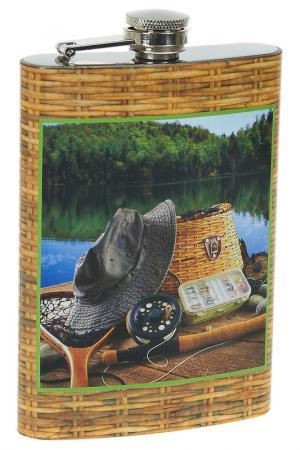Фляжка сувенирная Рыбалка ENS GROUP. Цвет: белый, розовый, зеленый, желты
