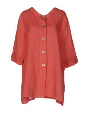 Pубашка LA FABBRICA del LINO. Цвет: коралловый
