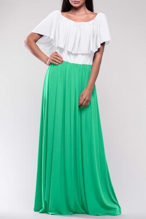 Платье REBECCA TATTI. Цвет: бело-зеленый