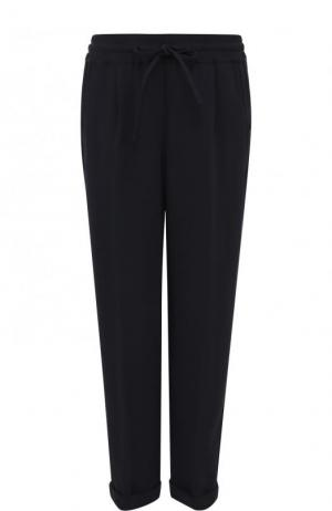 Укороченные брюки прямого кроя со стрелками Kiton. Цвет: темно-синий