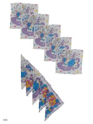 Набор платков носовых Римейн. Цвет: белый, сиреневый