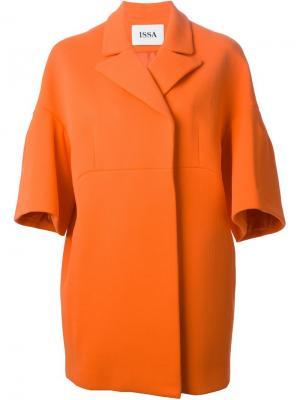 Пальто Jackie с широкими рукавами Issa. Цвет: жёлтый и оранжевый
