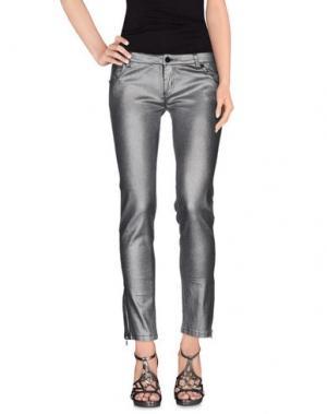 Джинсовые брюки ELLA LUNA. Цвет: серый