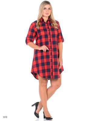 Рубашка Фарт Фаворита. Цвет: красный, синий