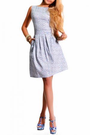 Платье LASKANY collezioni. Цвет: незабудки