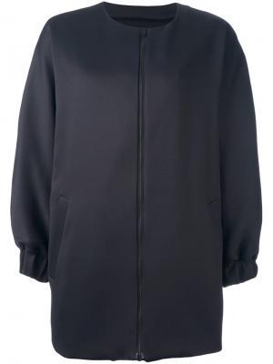Пальто на молнии Ahirain. Цвет: чёрный