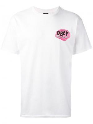 Mind Control T-shirt Obey. Цвет: белый