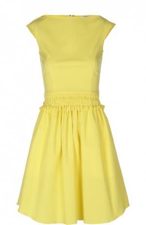Платье Carven. Цвет: желтый