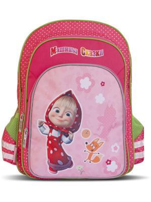 Рюкзак ортопедический мягкий Маша и Медведь Фантазия. Цвет: розовый