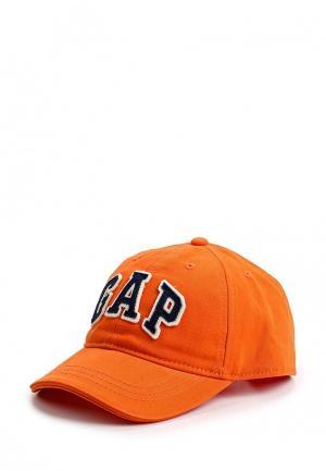 Бейсболка Gap. Цвет: оранжевый