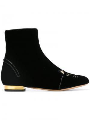 Ботинки Puss In Boots Charlotte Olympia. Цвет: чёрный