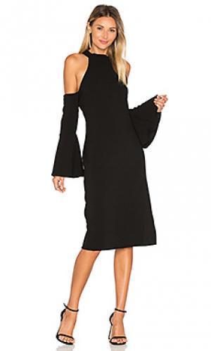 Платье миди maribella Backstage. Цвет: черный