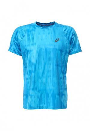 Футболка спортивная ASICS. Цвет: голубой