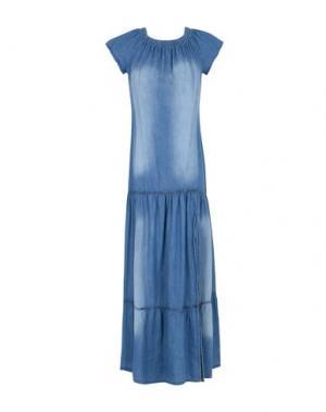 Длинное платье GEORGE J. LOVE. Цвет: синий