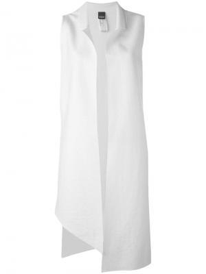 Пиджак свободного кроя без рукавов Lorena Antoniazzi. Цвет: белый