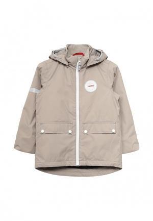 Куртка утепленная Reima. Цвет: бежевый