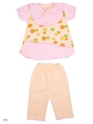 Пижама Babycollection. Цвет: оранжевый, розовый