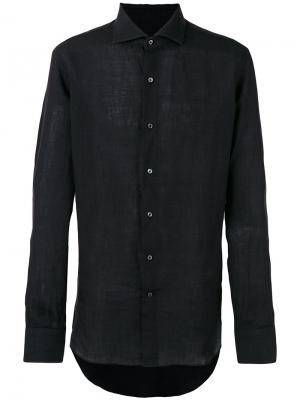 Рубашка с длинными рукавами Alessandro Gherardi. Цвет: чёрный