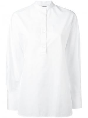 Рубашка с воротником-стойкой Harmony Paris. Цвет: белый