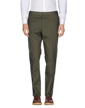 Повседневные брюки ..,BEAUCOUP. Цвет: зеленый-милитари