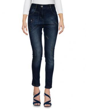Джинсовые брюки BOUTIQUE de la FEMME. Цвет: синий