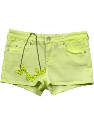 Шорты, Paula Dye, цвет желтый (Sunglasses) SUPERTRASH. Цвет: салатовый, желтый