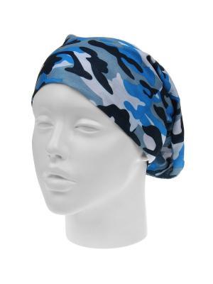 Повязка на голову Infiniti. Цвет: голубой, белый, серый