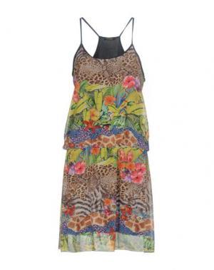 Короткое платье FRACOMINA. Цвет: зеленый