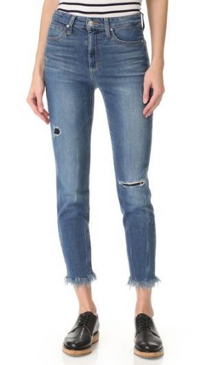 Укороченные джинсы Charlie с высокой посадкой Joe's Jeans. Цвет: умеренно-синий с эффектом поношенности