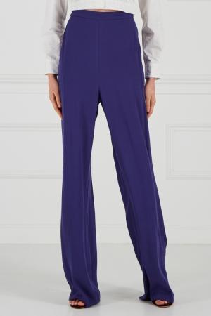 Синие брюки-палаццо Cyrille Gassiline. Цвет: синий