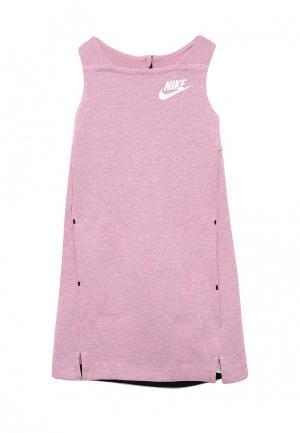 Платье Nike. Цвет: фиолетовый