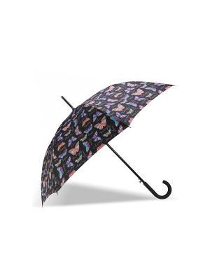 Зонт Isotoner. Цвет: голубой, фиолетовый, оранжевый, черный