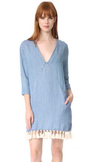 Платье Elana RAILS. Цвет: голубой