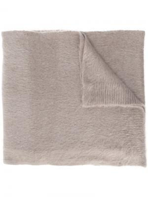 Одноцветный шарф Dondup. Цвет: коричневый