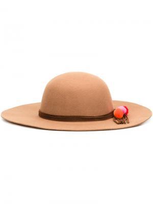 Фетровая шляпа Lauren Sensi Studio. Цвет: коричневый