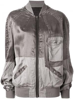 Zipped bomber jacket Haider Ackermann. Цвет: серый