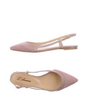 Балетки L'ARIANNA. Цвет: розовый