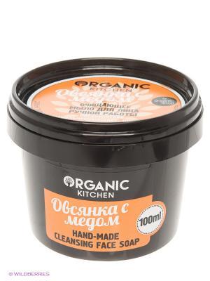 Мыло д/лица очищ.ручной работы Овсянка с медом 100мл Organic Shop. Цвет: черный